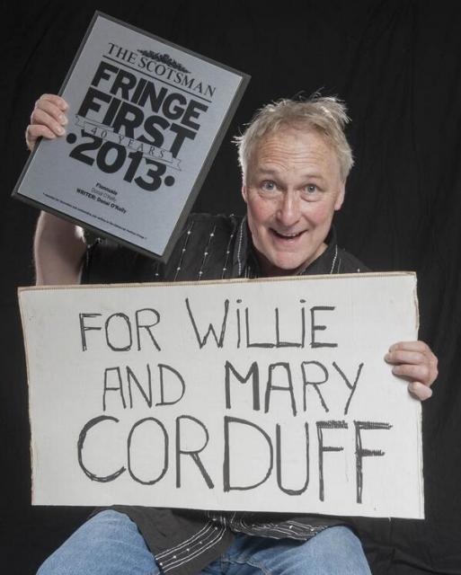 Donal O'Kelly, Edinburgh Fringe First winner 2013 for play Fionnuala about the Corrib Gas Fiasco