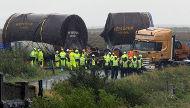 Shell's Tunnel Boring Machine stuck in the bog at Glenamoy crossroads